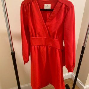 Belted Kate Spade Red Wrap Dress